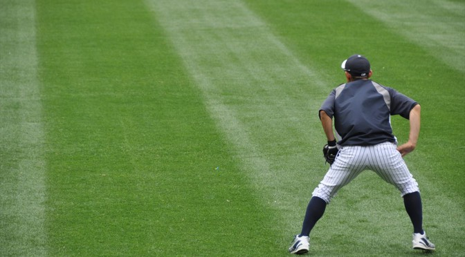 ホームランゾーンでヤンキースの打撃練習を堪能する